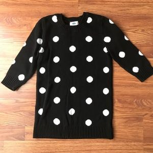 Girl's Old Navy size 10/12-Large polka dot sweater
